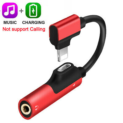 Lightning Adapter to 3.5mm Splitter AUX Headphone Jack For iPhone X MAX 7 8 Plus