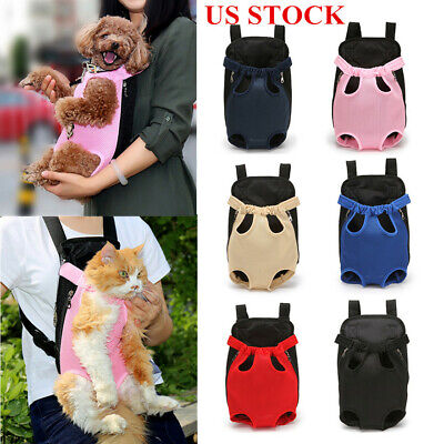 Small Pet Cat Puppy Dog Carrier Front Pack Hiking Backpack Head Legs Out S M L