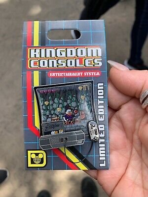 Disney Parks Pin Of The Month Kingdom Console ducktales Pin In Hand