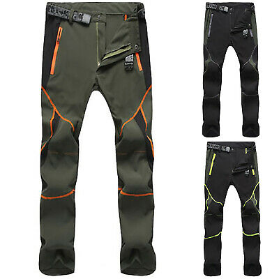 Men SOFT Shell Outdoor Trousers Hiking Spot Waterproof Trekking Climbing Pants K