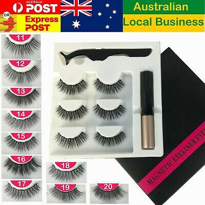Magnetic False Eyelashes Natural Eye Lashes Extension Liquid Eyeliner Tweezer