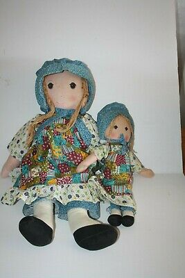 Holly Hobbie Knickerbocker Dolls x 2 and Lunchbox