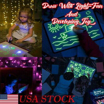 USA Draw With Light Fun And Developing Toy Drawing Board Magic Draw Educational
