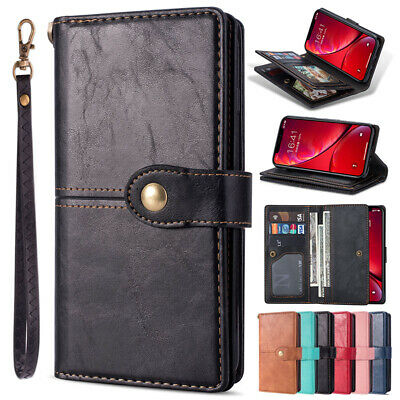 For iPhone 6 7 8 Plus 11 Pro Max XS XR Case Magnetic Leather Wallet Stand Cover