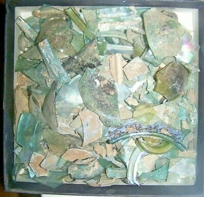 roman glass fragments 800 gr. box no.3