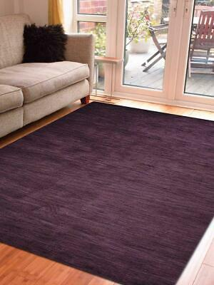 Hand Knotted Gabbe 10x13 Carpet Modern Wool Solid Purple Oriental 8x10 Area Rug
