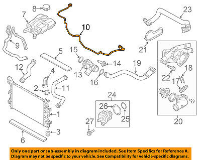 Ford 8C3Z-8075-C Engine Coolant Recovery Tank Hose