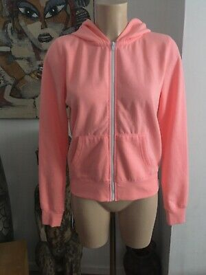 New Look Peach Cotton/Polyester Zip Hoodie Age 14/15 Years Ladies XS/S VGC