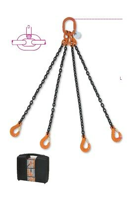 Robur Wire Rope 8094 8mm 4M Lifting Chain Sling 4 Leg In Plastic Case 080940044