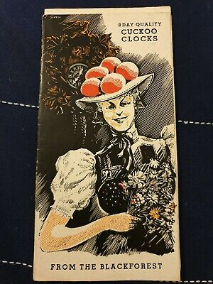 Vintage (1950) Brochure - 8 Day Cuckoo Clocks From The Black Forest - A. Schatz