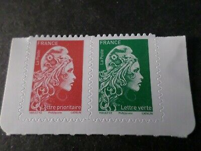 FRANCE, 2018, PAIRE timbres neufs** MARIANNE ENGAGEE AUTOADHESIFS, MNH STAMPS