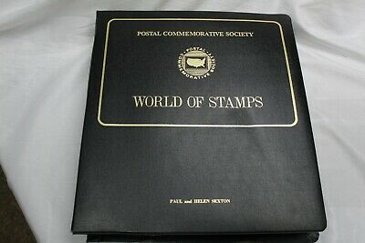 56 Different sheets of stamps from The World of Stamps in Album protective sheet