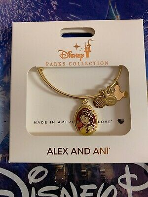 Disney Alex And Ani Belle Gold Bracelet Beauty And The Beast Tell Your Story