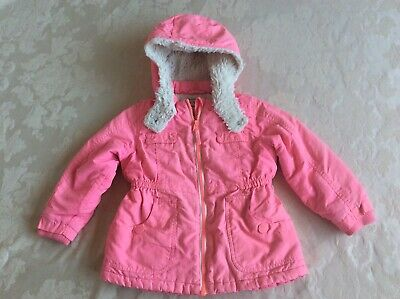 Next Pink Girls Coat Size 2-3 years Good condition