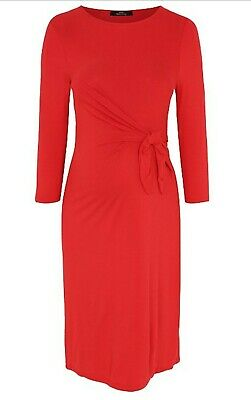 George Red Tie Waist Maternity Dress Size 22 BNWT Great for Christmas!