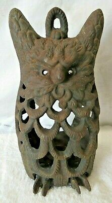 Vintage Antique Cast Iron Footed Owl Hanging Lantern FAST SHIPPING!