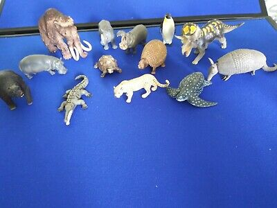 Lot Of Schleich and Safari Lmtd. Animal Dinosour Mammoth Bear Hippo Turttle...