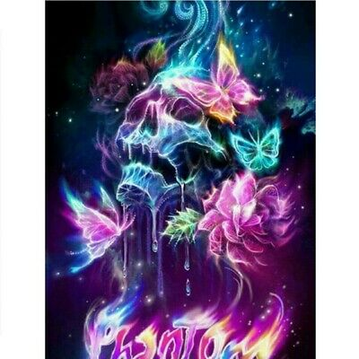 Drill Diamond Painting Kit Like Cross Stitch Skeleton and Winged Dragon ZY118F