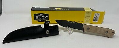 """Buck USA 104 """"Compadre Camp Knife"""" Fixed Blade Knife with Sheath - New In Box!"""