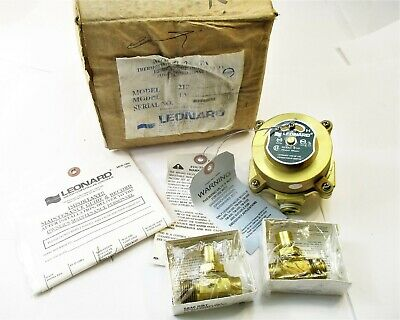 """Leonard 210 TA Thermostatic Water Mixing Valve With 1/2"""" Connections New"""