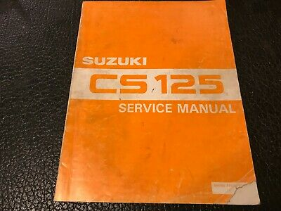 Suzuki Cs125 Oem Factory Service Manual 1983 Models
