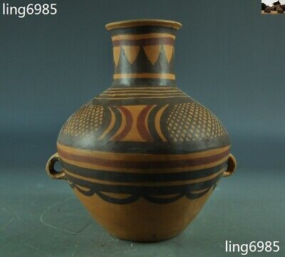 Antique Old Chinese Dadiwan Yangshao Culture Pottery Painted tanks Crock pot jar