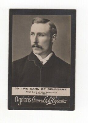 Ogden cigarette card: Earl of Selborne, First Lord of the Admiralty