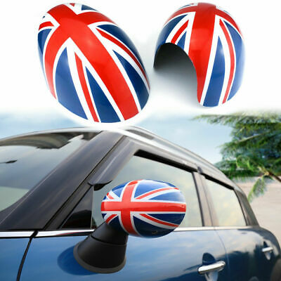 Checker Side Mirror Covers Cap For Mini Cooper Manual Dimming Mirror R55R56R60