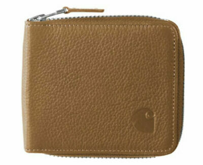 Carhartt WIP Zip Wallet Small, Leather, HAMILTON BROWN