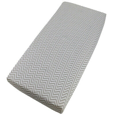 Moses Basket Jersey Fitted Sheet Deluxe Baby 100% Cotton 76x28cm - Chevron
