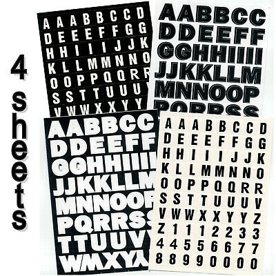 BULK 4x Sheets Alphabet Letters Stickers Scrapbooking Cards Labels School Office