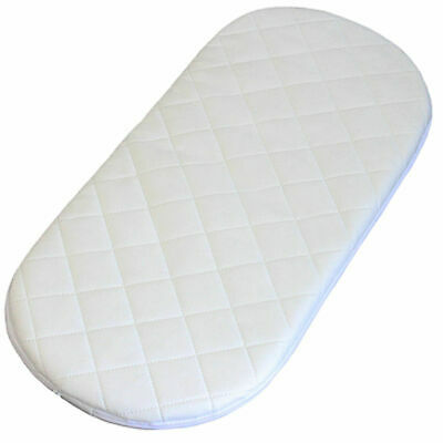 Quilted Moses Basket Bassinet Baby Pram Mattress Fully Breathable 74 X 28 X 3cm