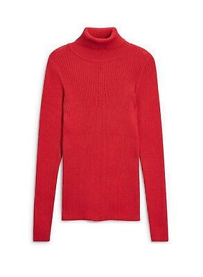 NEW Next Girls Red Polo Neck Top Age 4 5 6 Years Base Layer Ribbed Roll Turtle