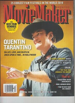 Quentin Tarantino Once Upon A Time In Hollywood Movie Maker Magazine Summer 2019