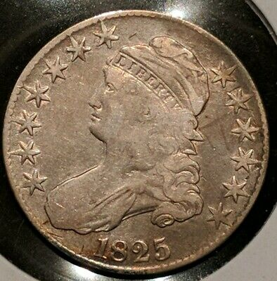 1825 50 Cents Silver Capped Bust Half Dollar