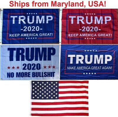 2' x 3' Trump Flag - 2020 Keep America Great - No More Bullshit -Small Boat Flag