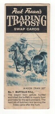 Australian Peek Frean Card. Wagon train scouts hunt buffalo