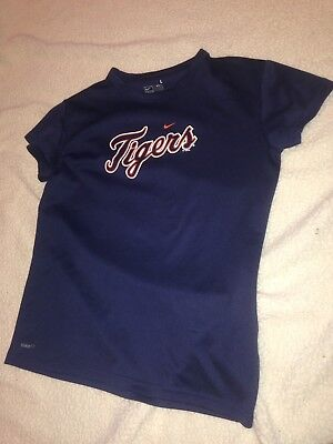 Girls Large Nike Blue Detroit Tigers Short Sleeve T-Shirt
