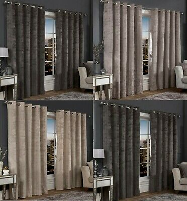 Florence Eyelet Ring Top Fully Lined Curtains & Cushion Covers.4 Sizes