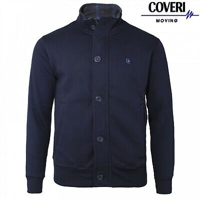 Giacca In Felpa Con Bottoni E Zip COVERI MOVING Colore Blu Taglie M L XL XXL 3XL