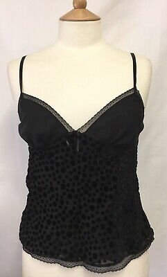 Marks And Spencer Lingerie Lace Top Camisole Black Size 10