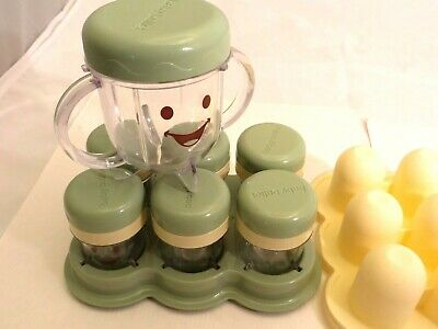 BABY BULLET Replacement Parts Food Processor Handle Cups 6 storage cups &