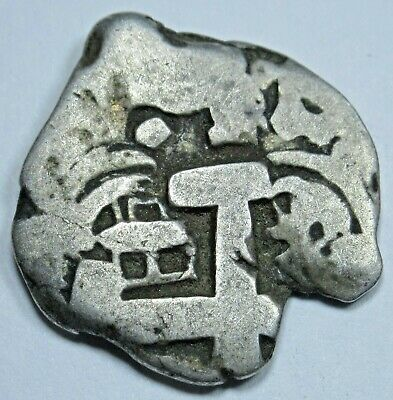 1768 Spanish Silver 1 Reales Cob Piece of 8 Real Colonial Pirate Treasure Coin