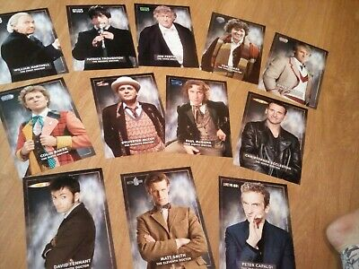 Doctor Who Cards Of All Twelve Doctors