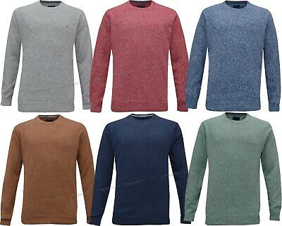Mens Ex Chain Store 100% Cotton Crew Neck Top Knitwear Jumper Sweater M - 3XL