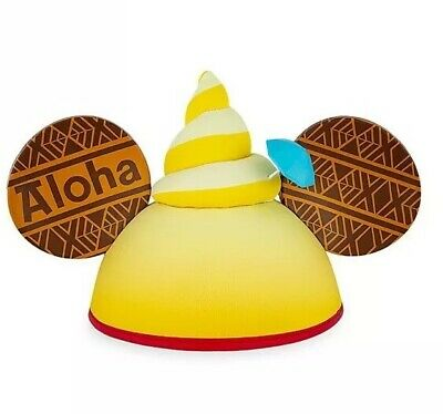 Disney Dole Whip Pineapple Swirl Mickey Ear Hat for Adults-NWT