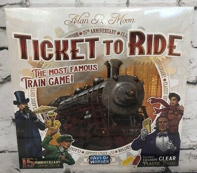 Ticket To Ride 15th Anniversary Edition Board Game New Sealed