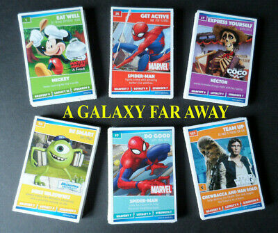 Sainsburys Disney Heroes  Trading Cards Complete Full 144 Card Set