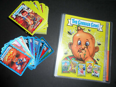 Topps Garbage Gang/Pail Kids Complete Set & All 10 Ltd Cards & Album 2018