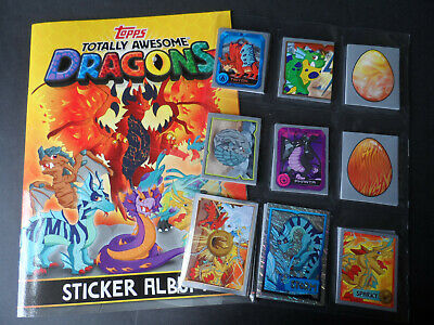 TOPPS TOTALLY AWESOME DRAGONS STICKER PACKETS TOTALLY AWESOME DRAGONS STICKERS